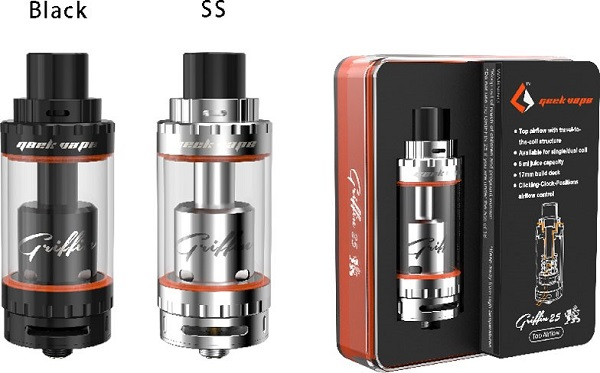 Griffin 25 RTA Tank Top Airflow Version